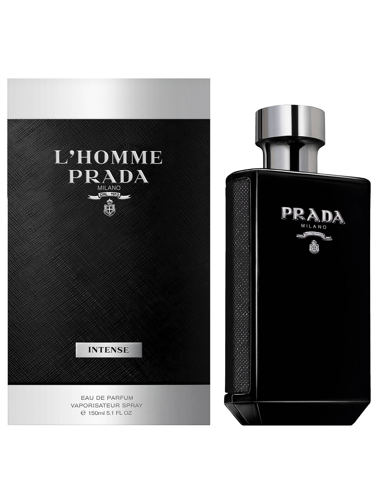 BuyPrada L'Homme Intense Eau de Parfum, 150ml Online at johnlewis.com