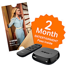 Buy NOW TV Box with 2 Month Entertainment Pass, Black Online at johnlewis.com
