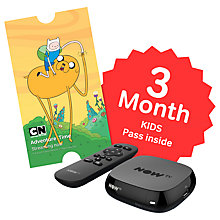 Buy NOW TV Box with 3 Month Kids Pass, Black Online at johnlewis.com