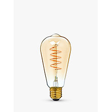 Buy Calex 4W ES LED ST64 Flex Bulb , Clear / Gold, Dimmable Online at johnlewis.com