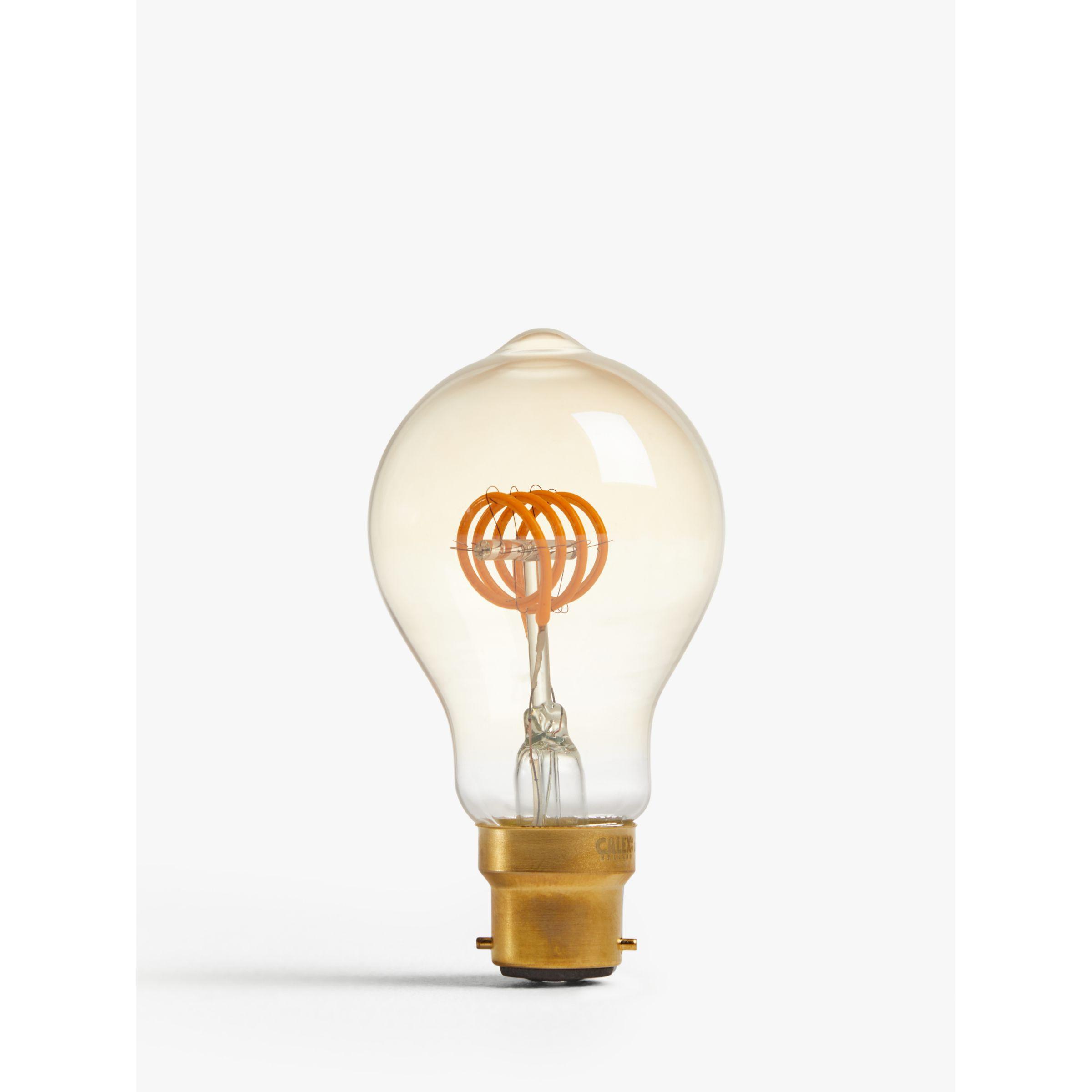 Calex Calex 4W ES LED Classic Filament Flex Bulb, Clear / Gold, Dimmable