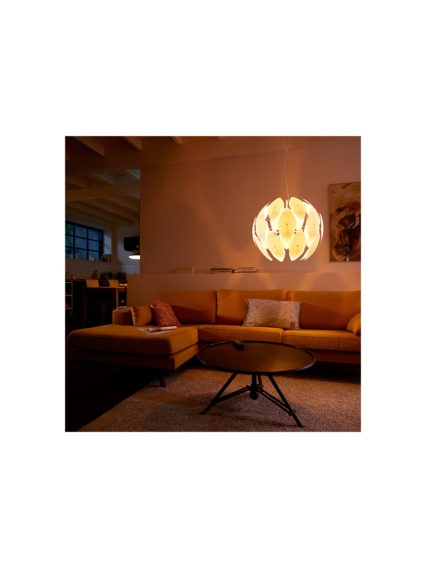 Buy Philips Hue Smart Chiffon Ceiling Light, White Online at johnlewis.com