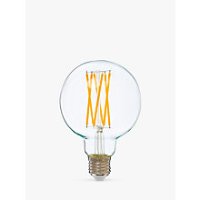 Buy Calex 4W ES LED G95 Globe Bulb, Clear, Dimmable Online at johnlewis.com