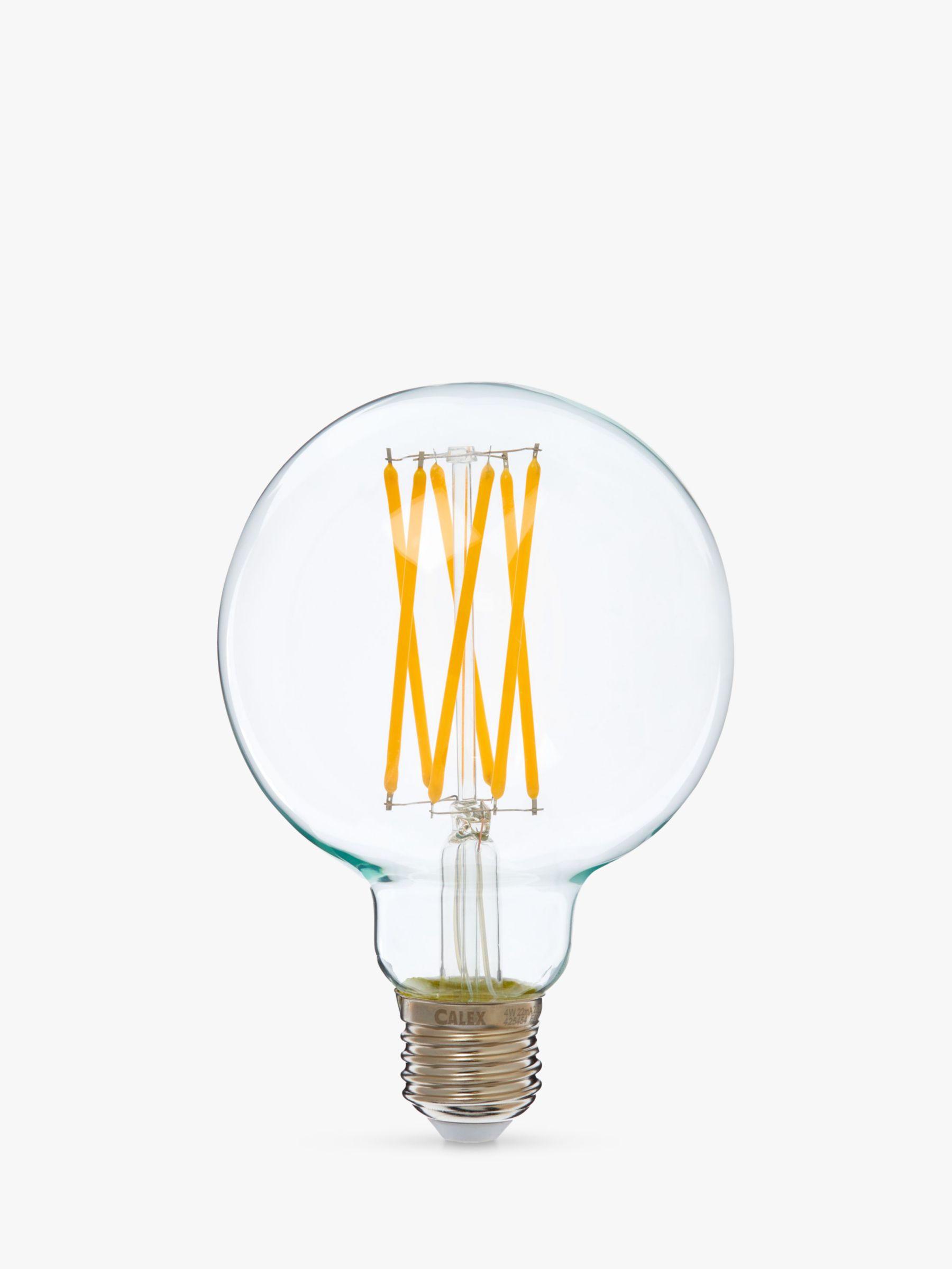 Calex Calex 4W ES LED G95 Globe Bulb, Clear, Dimmable