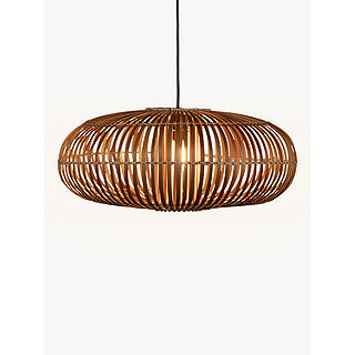 Ceiling lighting furniture lights john lewis john lewis talia bamboo rattan ceiling light natural aloadofball Images