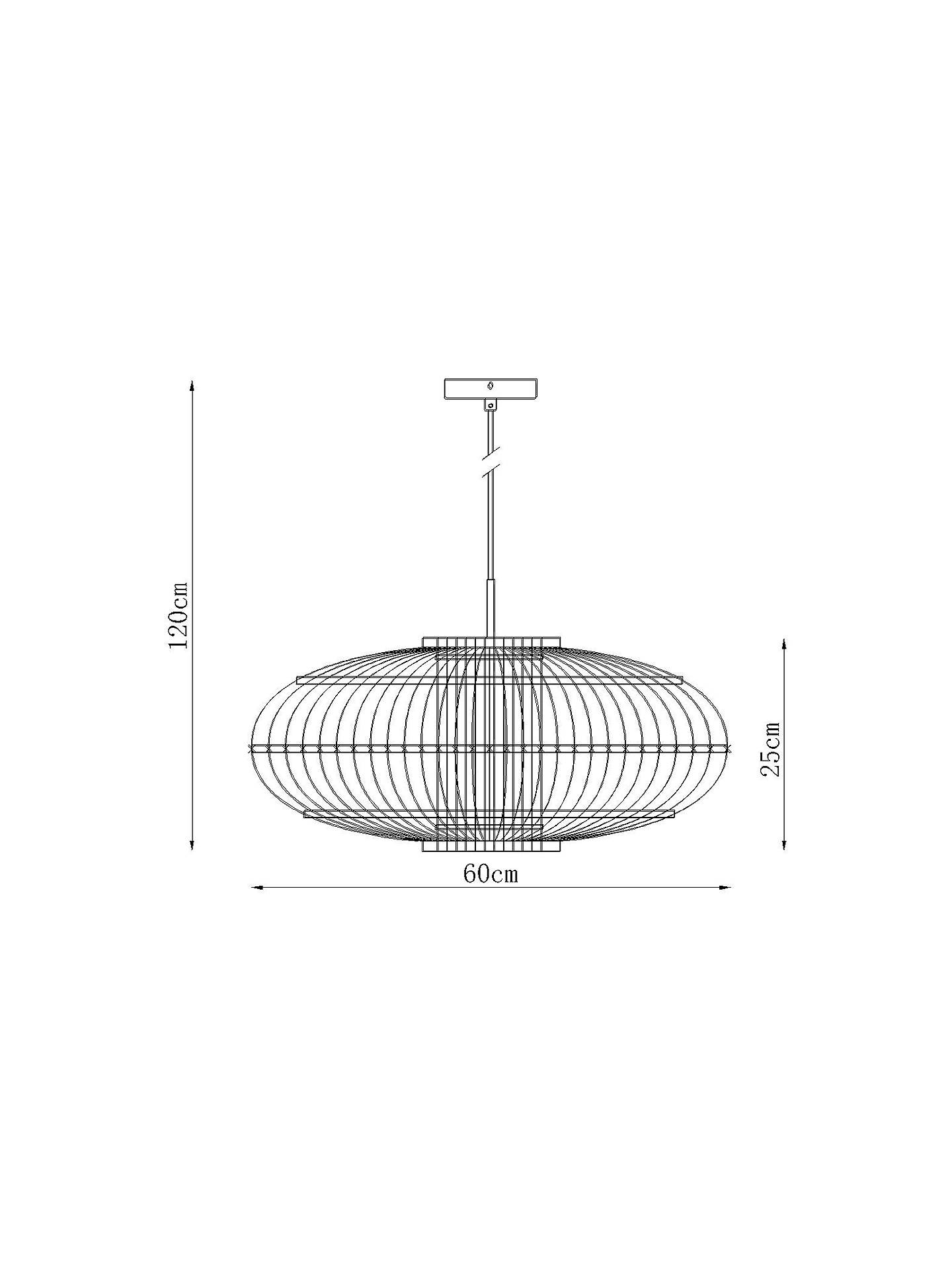 BuyJohn Lewis & Partners Talia Bamboo Rattan Ceiling Light, Natural Online at johnlewis.com