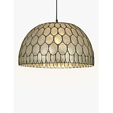 Buy John Lewis Ampara Capiz Shell Ceiling Light, White/Grey Online at johnlewis.com