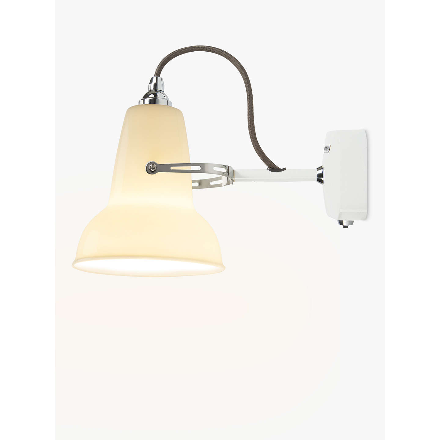 Anglepoise 1227 mini ceramic wall light white at john lewis buyanglepoise 1227 mini ceramic wall light white online at johnlewis mozeypictures Image collections