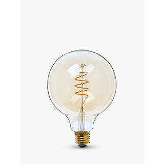 Calex 4W ES LED Dimmable Flex Filament G125 Globe Bulb Gold