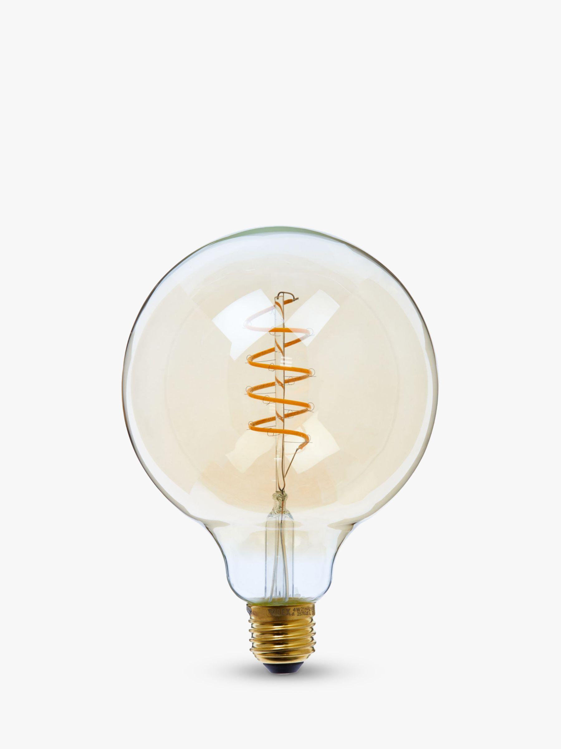Calex Calex 4W ES LED Dimmable Flex Filament G125 Globe Bulb, Gold