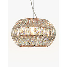 Buy John Lewis Kelsey Small Crystal Ceiling Light, Copper Online at johnlewis.com