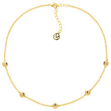 Buy Melissa Odabash Disc Choker Necklace, Gold Online at johnlewis.com