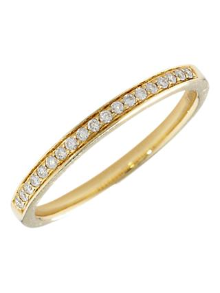 London Road 18ct Gold Portobello Raindrop Diamond Half Eternity Ring
