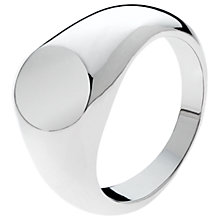 Buy Melissa Odabash Signet Ring, Silver Online at johnlewis.com