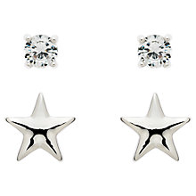 Buy Melissa Odabash Star and Crystal Double Stud Earrings Online at johnlewis.com