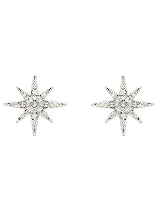 Melissa Odabash Glass Crystal Star Stud Earrings, Silver