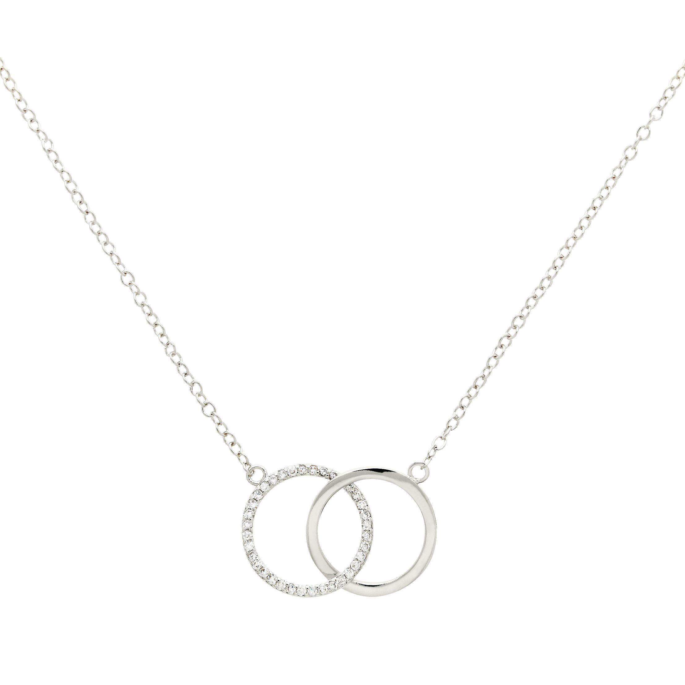 Melissa Odabash Melissa Odabash Glass Crystal Double Circle Pendant Necklace