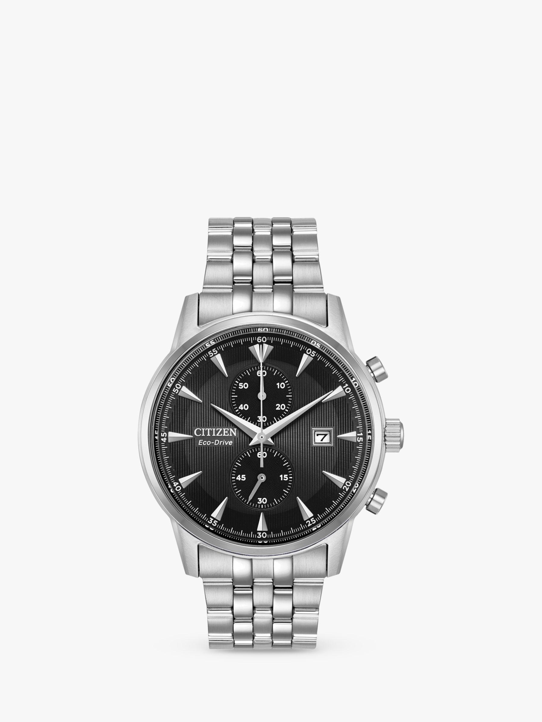 Citizen Ca7000 55e Men S Chronograph Date Bracelet Strap Watch Silver Black