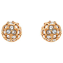 Buy Cachet Pave Ball Swarovski Crystal Stud Earrings, Rose Gold Online at johnlewis.com