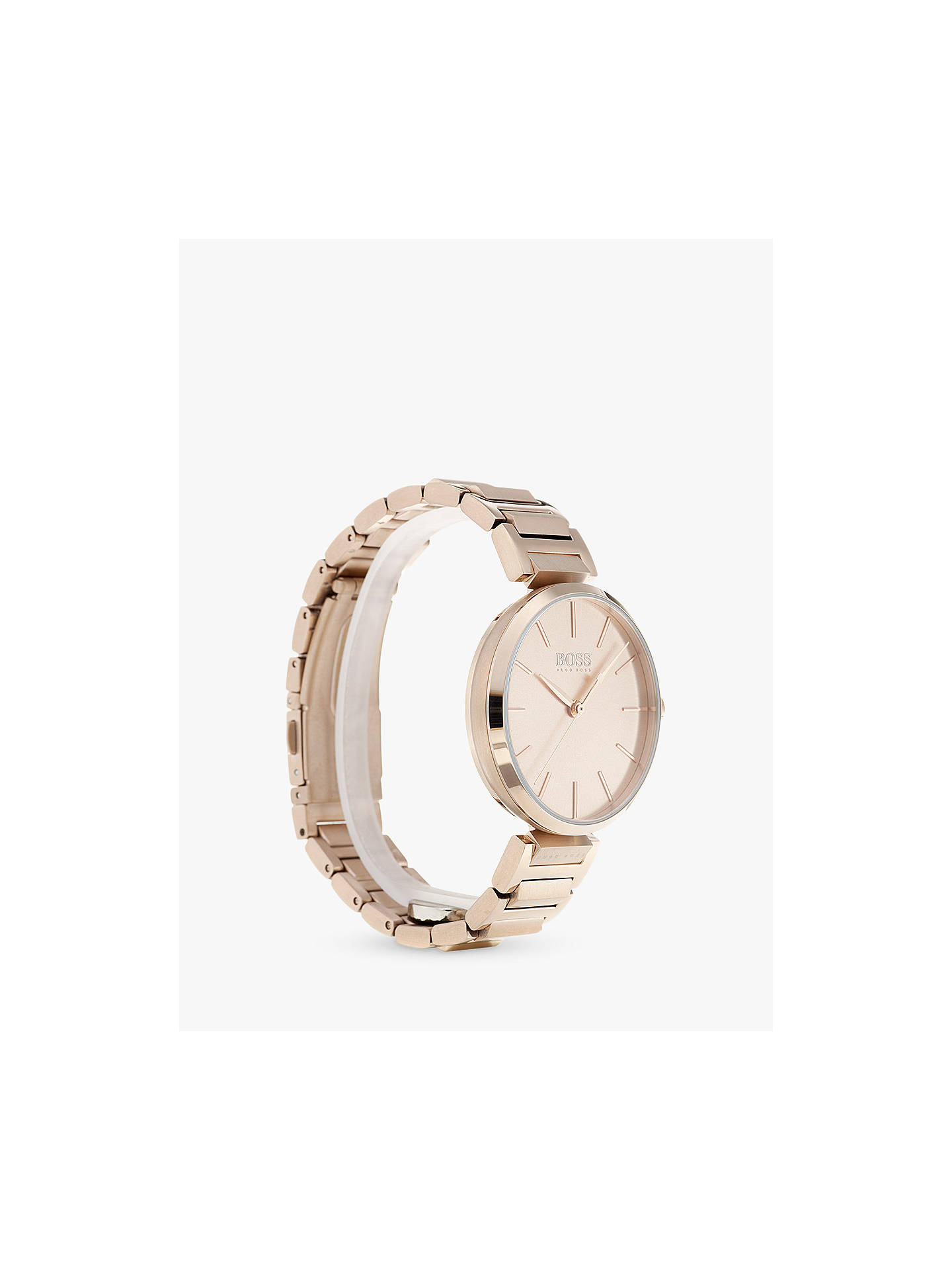 54eb3ffce66c Buy HUGO BOSS 1502418 Women's Allusion Bracelet Strap Watch, Rose Gold  Online at johnlewis.