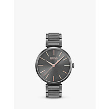 Buy HUGO BOSS 1502416 Women's Allusion Bracelet Strap Watch, Dark Grey Online at johnlewis.com