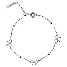 Buy Olivia Burton Bow and Ball Chain Bracelet, Silver Online at johnlewis.com