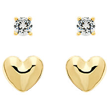 Buy Melissa Odabash Heart and Crystal Double Stud Earrings Online at johnlewis.com
