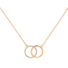 Buy Melissa Odabash Glass Crystal Double Circle Pendant Necklace Online at johnlewis.com