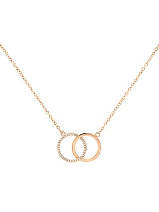Melissa Odabash Glass Crystal Double Circle Pendant Necklace