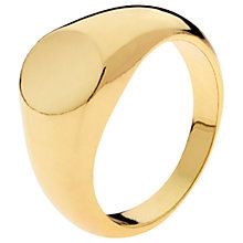 Buy Melissa Odabash Signet Ring, Gold Online at johnlewis.com