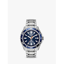 Buy Citizen BN0191-55L Men's Divers Date Bracelet Strap Watch, Silver/Blue Online at johnlewis.com