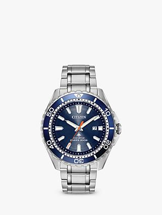 Citizen BN0191-55L Men's Divers Date Bracelet Strap Watch, Silver/Blue BN0191-55L