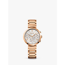 Buy HUGO BOSS 1502399 Women's Classic Chronograph Bracelet Strap Watch, Rose Gold/Silver Online at johnlewis.com