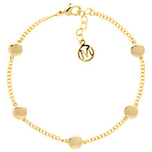 Buy Melissa Odabash Disc Chain Bracelet, Gold Online at johnlewis.com