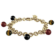 Buy Dyrberg/Kern Jasper Bead Chain Bracelet, Red/Multi Online at johnlewis.com