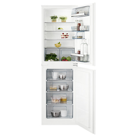 buy aeg scb61812ls integrated fridge freezer a energy rating 55cm wide white online