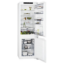 Buy AEG SCE81826NC Integrated Fridge Freezer, A++ Energy Rating, 56cm Wide, White Online at johnlewis.com