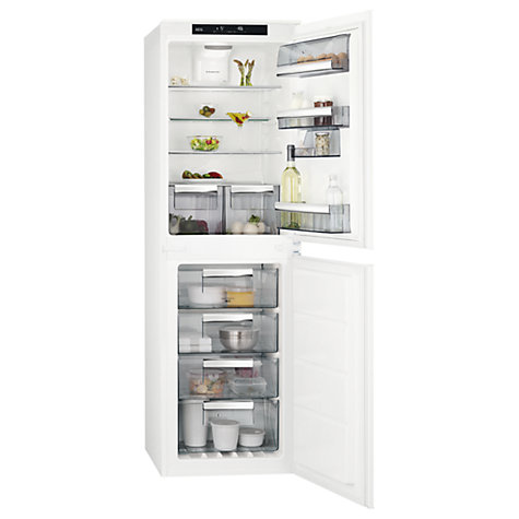 buy aeg sce81827ts integrated fridge freezer a energy rating 54cm wide white online