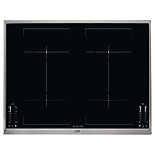 Buy AEG HK764403XB Induction Hob, Black Online at johnlewis.com