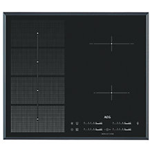 Buy AEG HKP65410FB Induction Hob, Black Stainless Steel Online at johnlewis.com