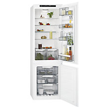 Buy AEG SCE81824TS Integrated Fridge Freezer, A++ Energy Rating, 54cm Wide, White Online at johnlewis.com