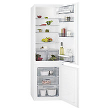 Buy AEG SCB61811LS Integrated Fridge Freezer, A+ Energy Rating, 54cm Wide, White Online at johnlewis.com