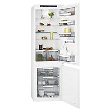Buy AEG SCE81816TS Integrated Fridge Freezer, A+ Energy Rating, 54cm Wide, White Online at johnlewis.com