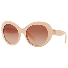 Buy Dolce & Gabbana DG4295 Outsize Oval Sunglasses, Blush/Rose Gradient Online at johnlewis.com