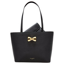 Buy Ted Baker Bowdai Leather Small Shopper Bag Online at johnlewis.com
