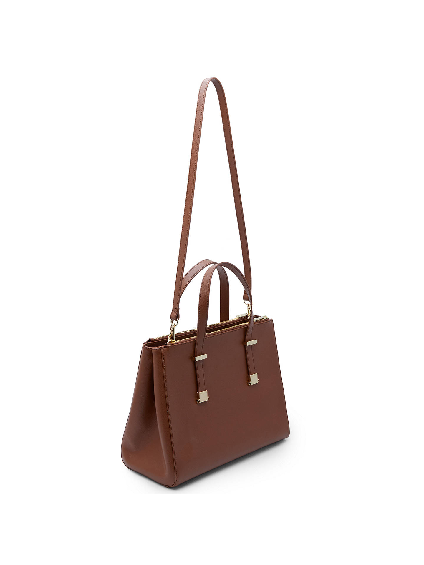 Buy Ted Baker Alunaa Pebble Grain Leather Large Tote Bag, Camel Online at johnlewis.com