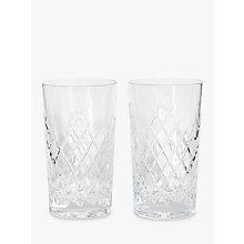 Buy Soho Home Barwell Crystal Cut Highball Glasses, 300ml, Set of 2 Online at johnlewis.com