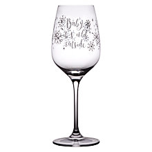 Buy John Lewis Baby It's Cold Outside Wine Glass, 340ml Online at johnlewis.com