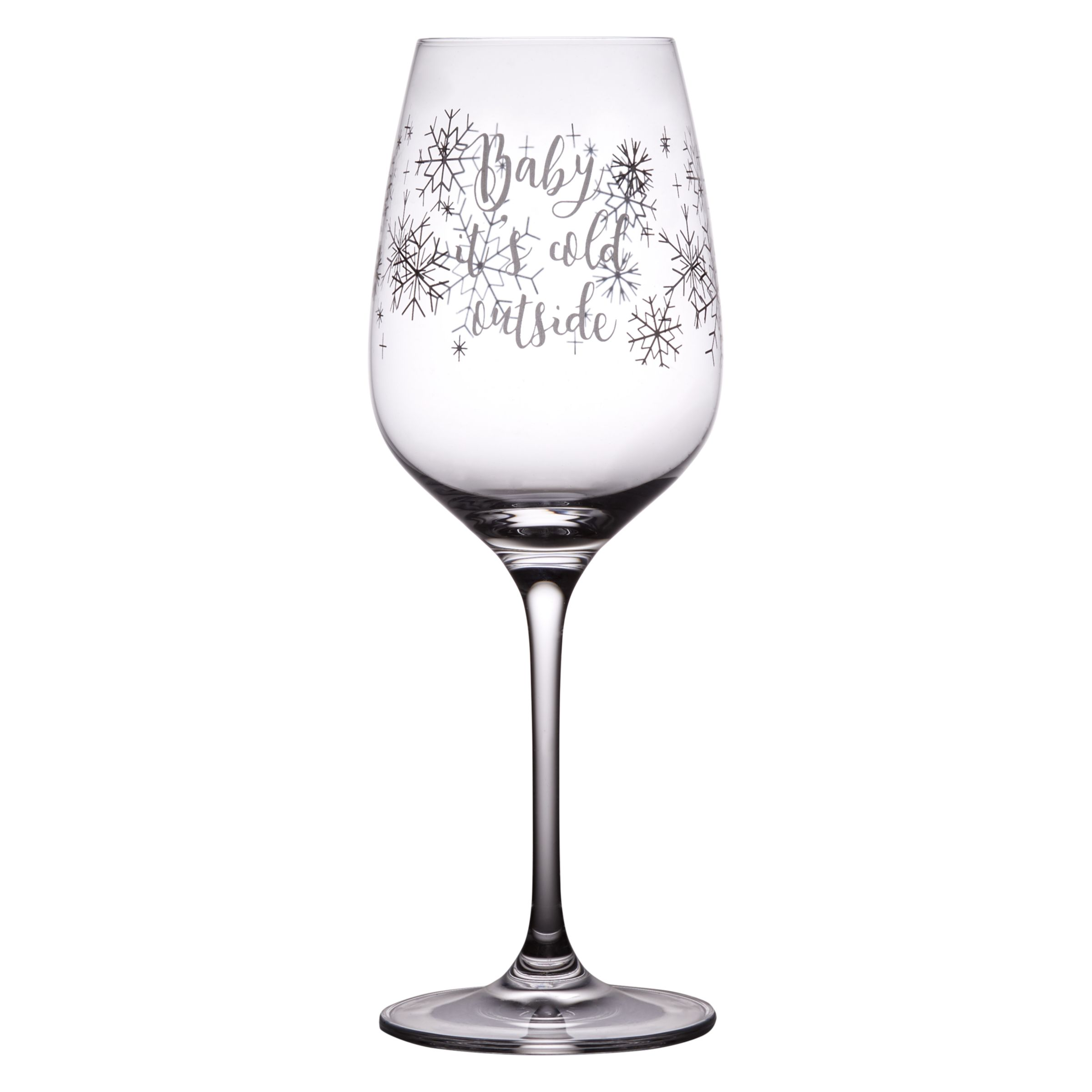 john lewis baby it 39 s cold outside wine glass bluewater. Black Bedroom Furniture Sets. Home Design Ideas
