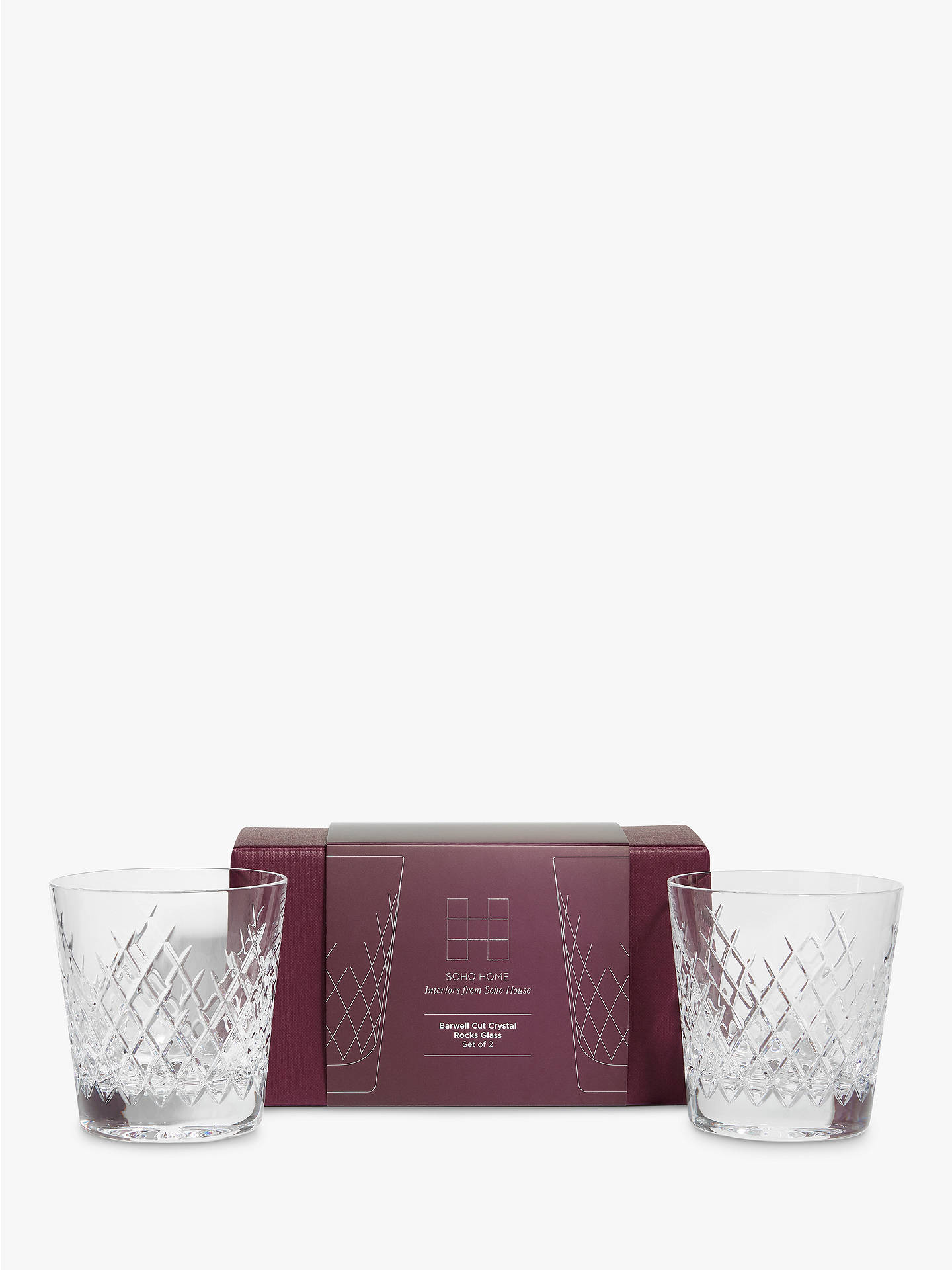 BuySoho Home Barwell Crystal Cut Rocks Glasses, 300ml, Set of 2 Online at johnlewis.com